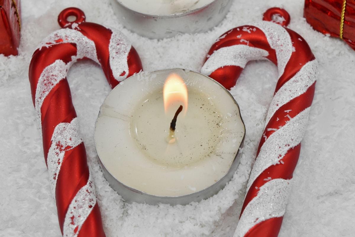 stearinlys, dekorasjon, hjerte, hjerter, kjærlighet, romantikk, Snøflak, flamme, stearinlys, Christmas