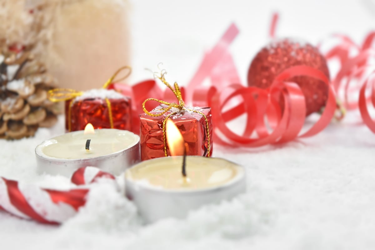birthday, candle, candles, decoration, gifts, party, romance, romantic, ribbon, winter