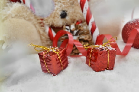 christianity, christmas, gifts, ornament, packages, shining, winter, holiday, gift, ribbon