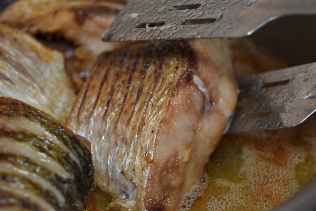cholesterol, cutlery, dinner, freshwater fish, healthy, oil, organic, roasting, food, cooking