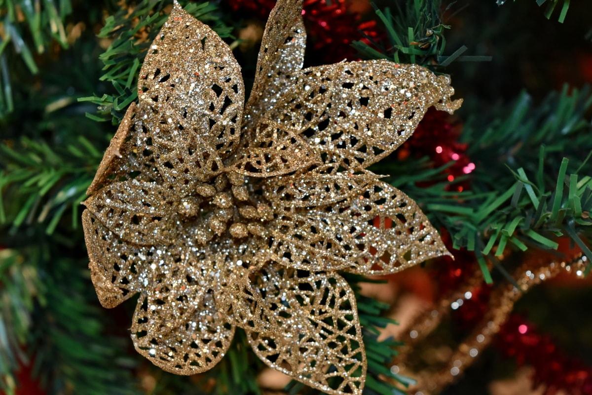 Χριστούγεννα, χριστουγεννιάτικο δέντρο, πολύχρωμο, διακόσμηση, Χρυσή λάμψη, λάμπει, Χειμώνας, δέντρο, φύση, Κώνος
