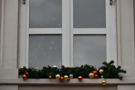 christmas, decoration, window, sill, house, indoors, architecture, flower, interior design, wood