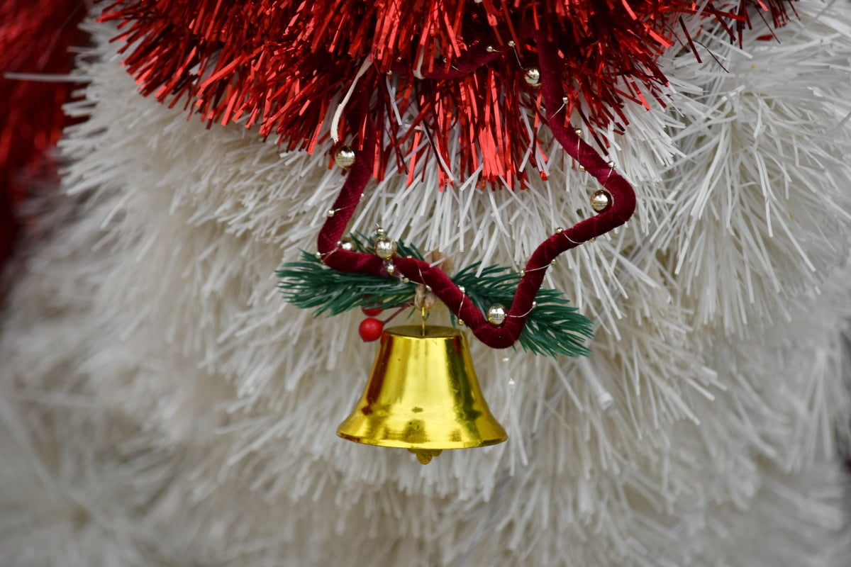 bell, christmas, decoration, golden glow, golden shiner, ornament, shining, hanging, traditional, winter