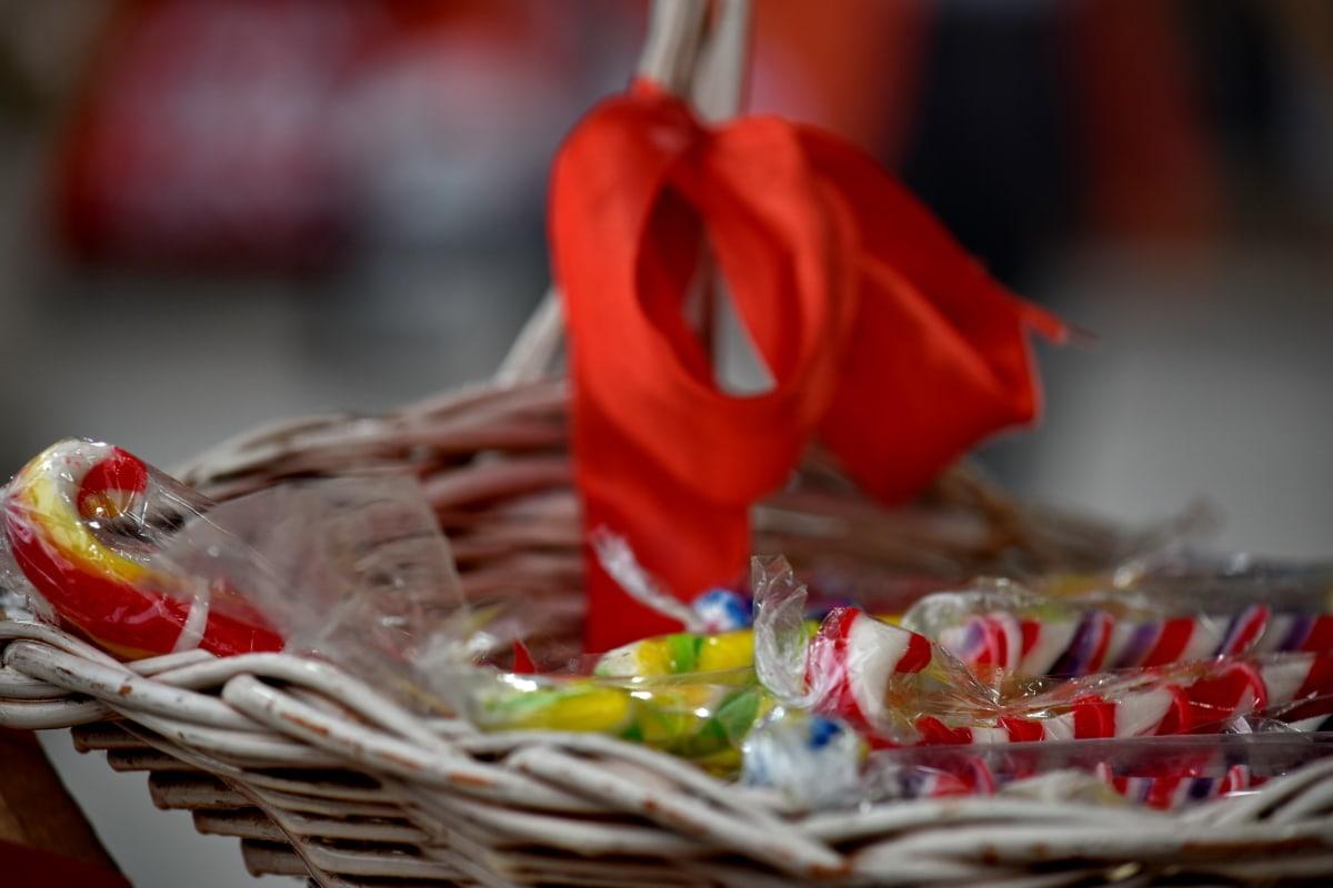 dessert, handmade, homemade, lollipop, sugar, wicker basket, food, traditional, shopping, candy