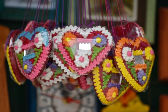 candy, colorful, food, gifts, handmade, hanging, hearts, memorabilia, remembrance, romantic