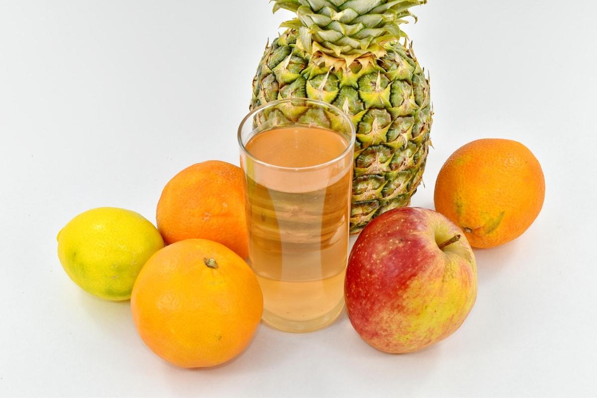 vitamin, pineapple, tropical, food, citrus, orange, juice, fruit, health, still life
