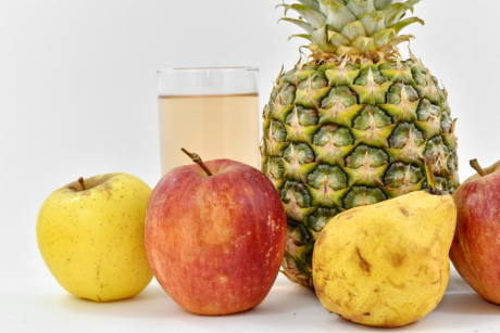 apples, dietary, drinking water, exotic, fruit juice, pear, pineapple, tropical, produce, food