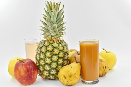cocktails, juice, tropical, apple, produce, food, fruit, pineapple, health, still life