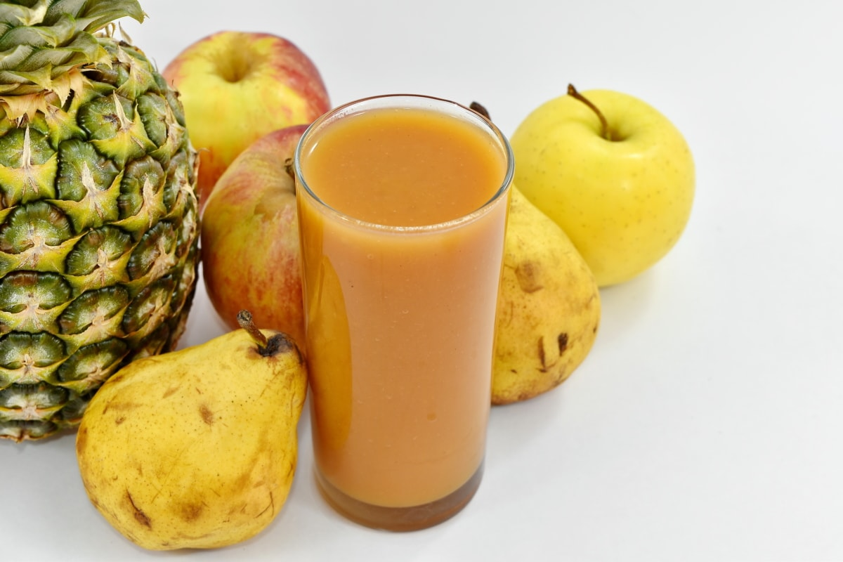 beverage, pears, syrup, juice, food, apple, glass, drink, fruit, health