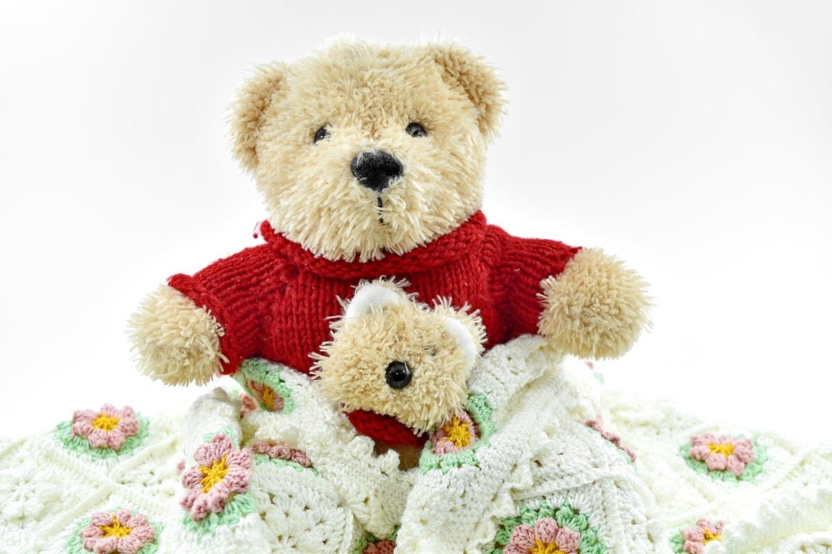 blanket, knitting, wool, teddy bear toy, gift, winter, cute, toy, plush, fur