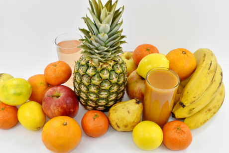 agriculture, fruit, fruit juice, pineapple, orange, produce, banana, food, tropical, apple