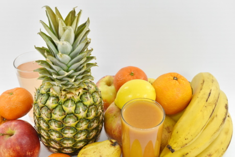 banana, food, fresh, tropical, pineapple, healthy, produce, fruit, health, apple