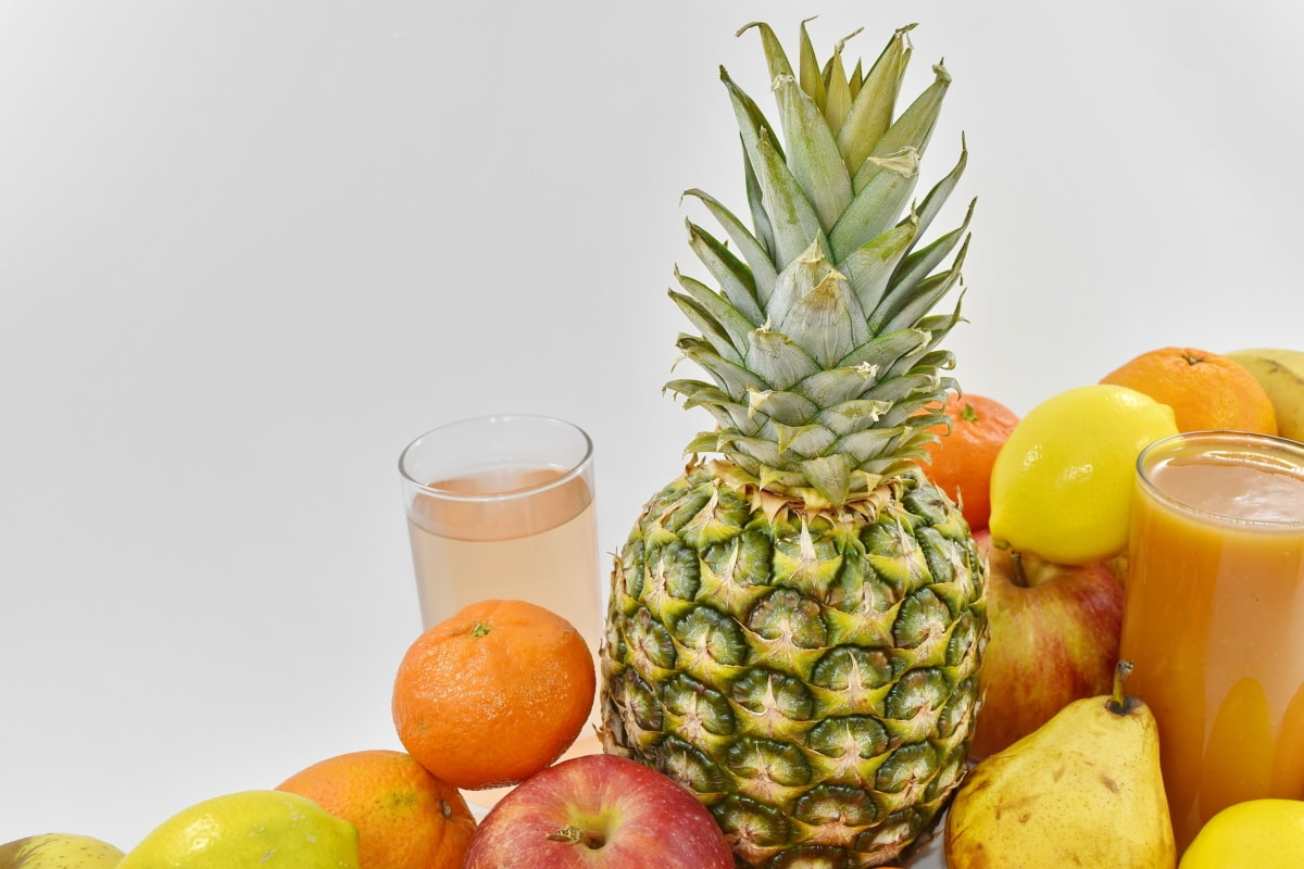 cocktail, exotic, organic, tropical, pineapple, produce, orange, food, fruit, fresh