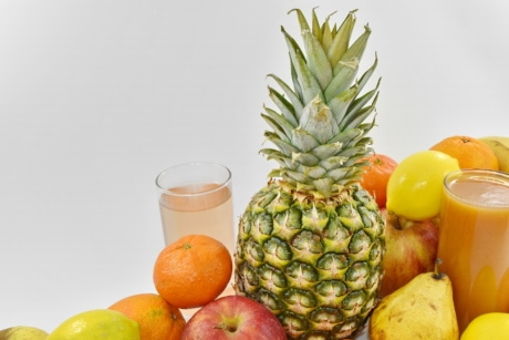 cocktail, exotice, organice, tropicale, ananas, produc, portocale, alimente, fructe, proaspete