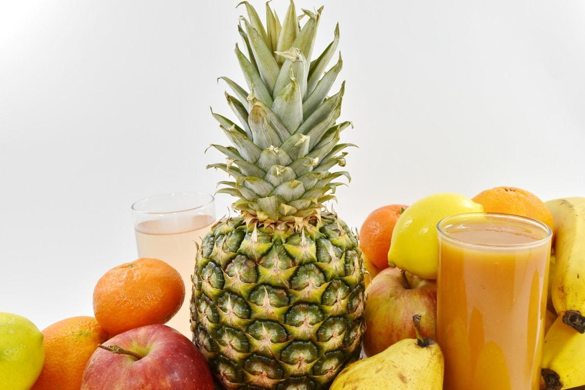 healthy, fresh, fruit, food, tropical, pineapple, produce, health, juice, apple