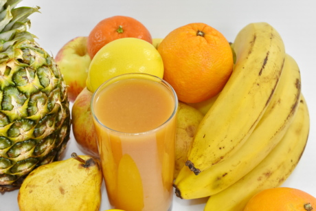 banana, beverage, exotic, fruit, fruit juice, syrup, tropical, food, produce, health