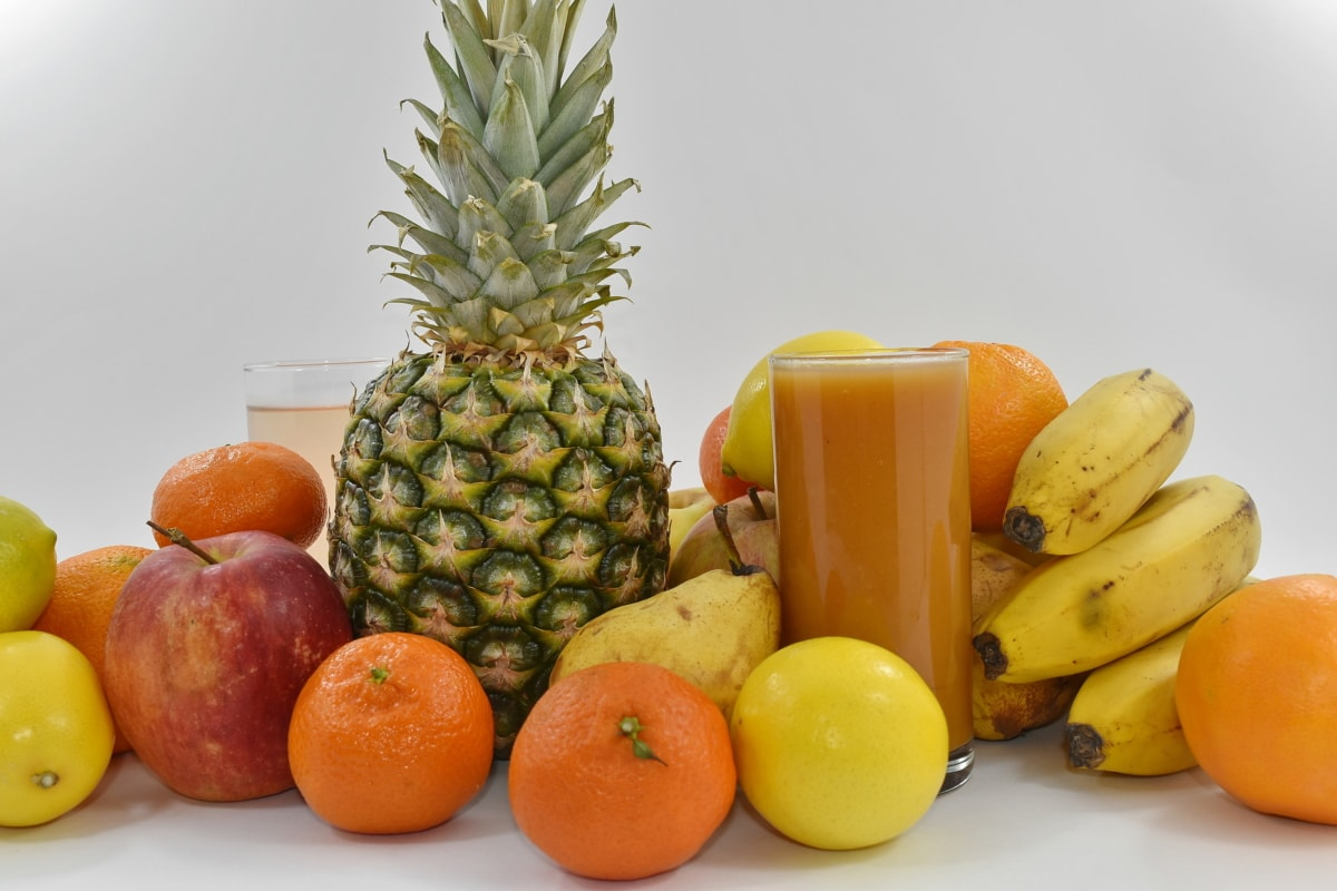 cocktails, fruit, orange, food, tropical, banana, healthy, pineapple, produce, apple