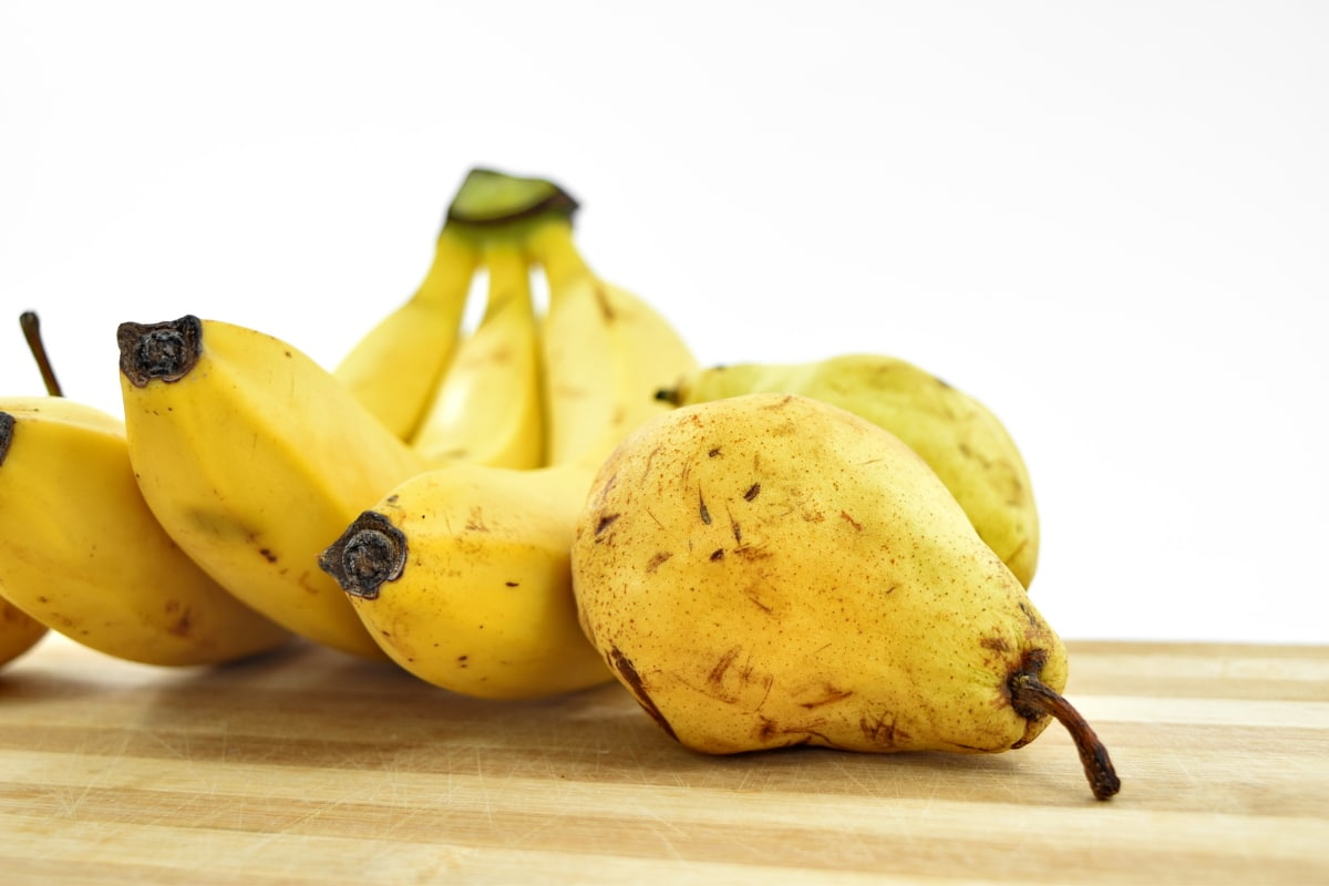food, organic, pear, vegan, vegetarian, banana, fruit, sweet, produce, health
