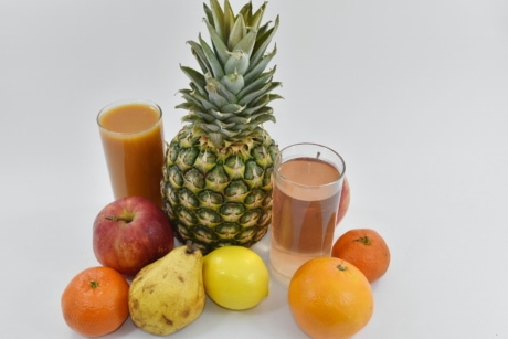 fresh water, fruit cocktail, fruit juice, tropical, fruit, food, healthy, produce, pineapple, juice