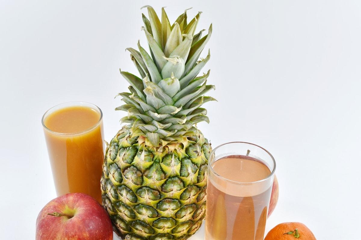 apple, delicious, fresh water, fruit juice, mandarin, pineapple, syrup, juice, food, tropical