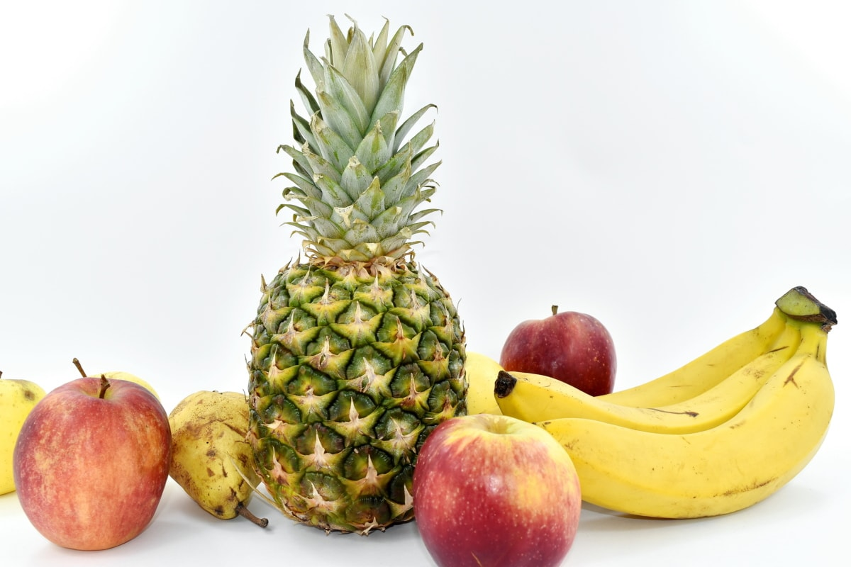 apples, banana, sweet, pineapple, food, produce, fruit, tropical, health, apple