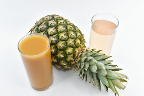 exotic, fruit, fruit cocktail, fruit juice, organic, syrup, vegan, food, pineapple, cup