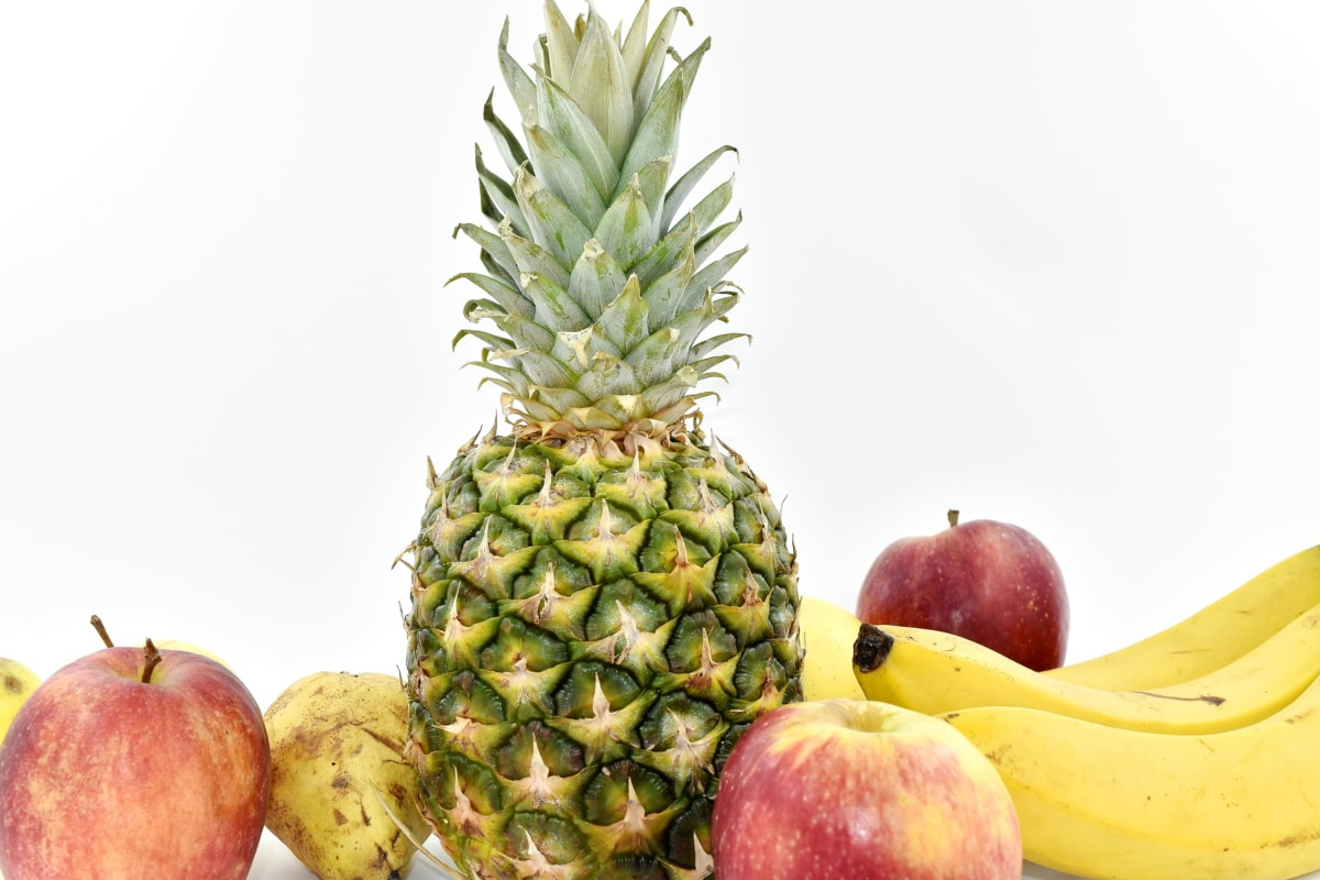 banana, delicious, pineapple, fruit, fresh, food, tropical, healthy, nature, nutrition