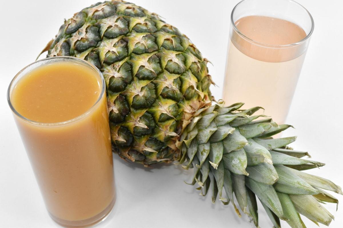 fruit custard, fruit juice, pineapple, syrup, fruit, produce, food, drink, juice, health