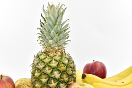 pineapple, health, tropical, fruit, food, produce, nature, healthy, nutrition, leaf