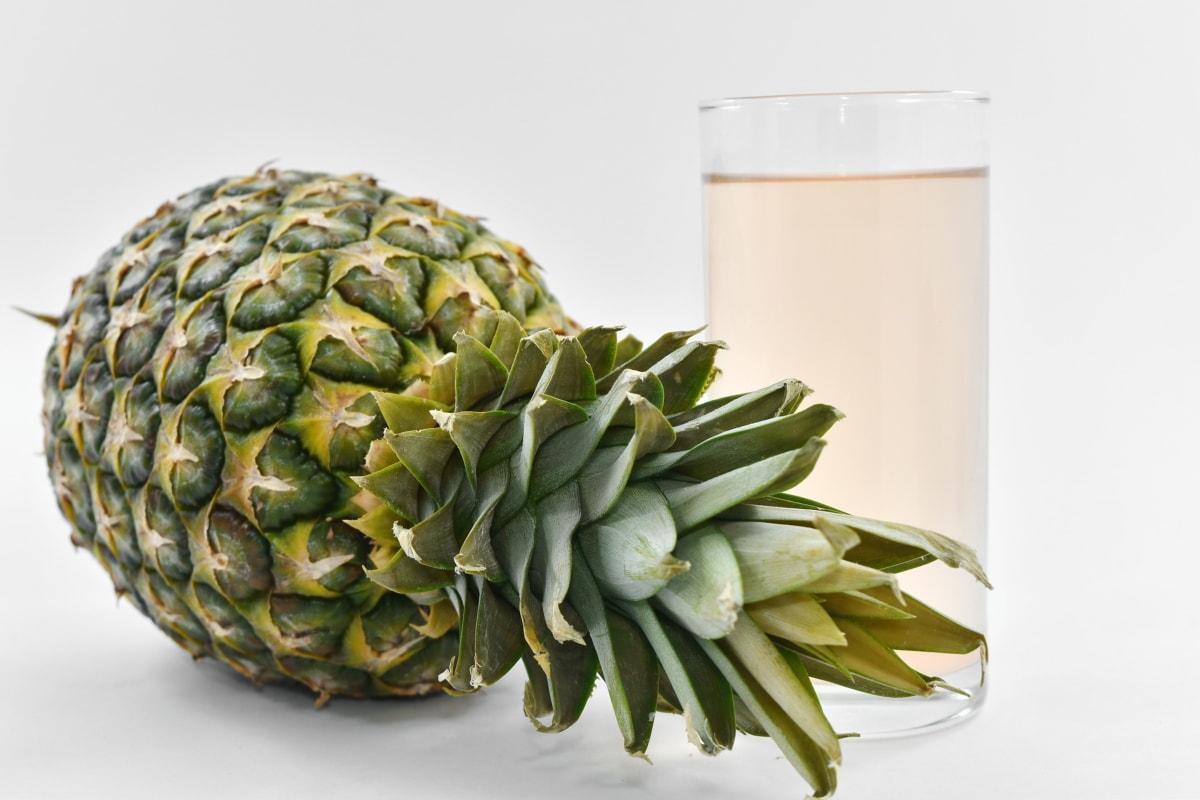 fruit cocktail, fruit juice, green leaf, fruit, pineapple, produce, food, plant, nature, health