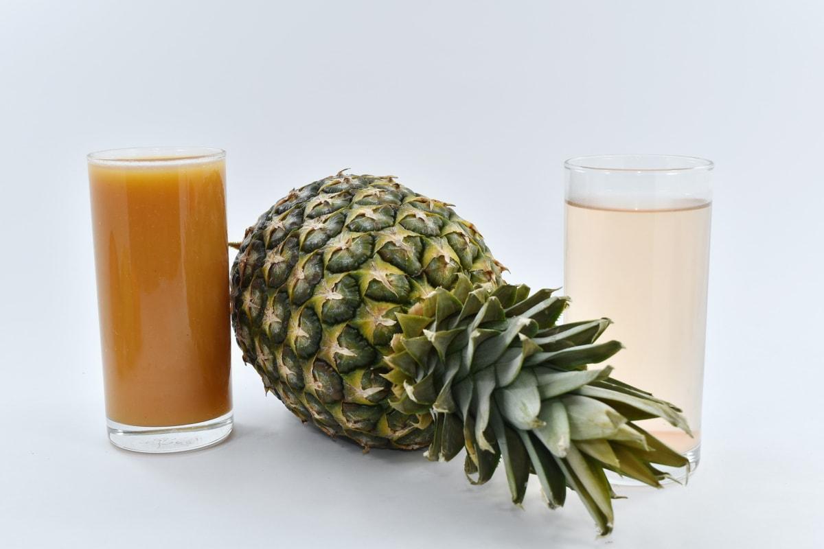 fruit cocktail, fruit juice, fruit, food, pineapple, tropical, glass, still life, juice, drink