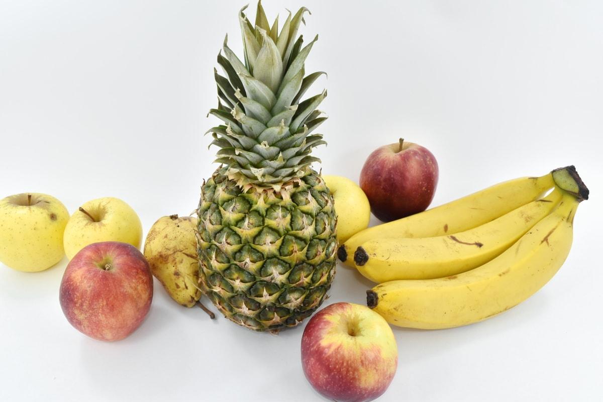 banana, tropical, fresh, food, fruit, apple, produce, health, still life, nutrition