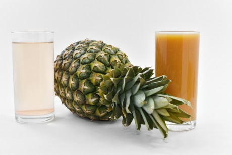 beverage, calorie, drinking water, fruit cocktail, fruit juice, liquid, pineapple, syrup, vegetable, produce