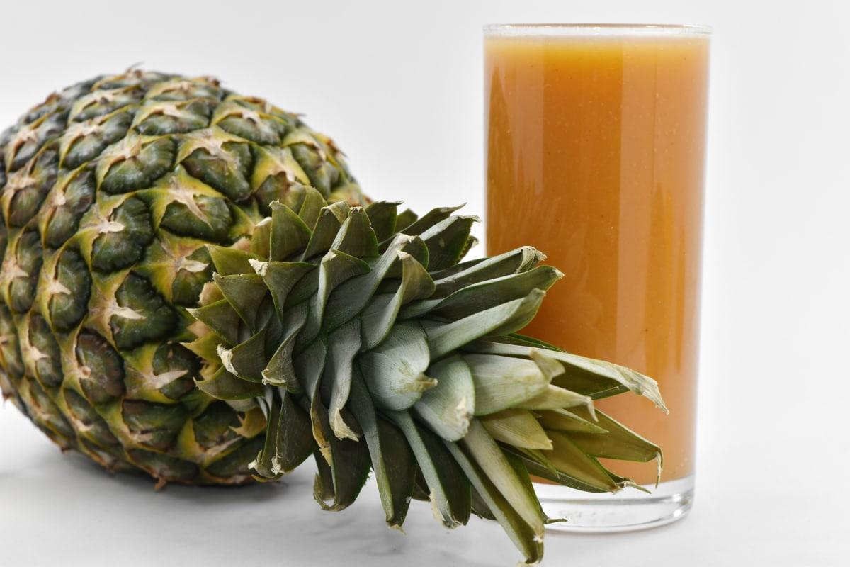 cocktail, fruit juice, pineapple, syrup, food, health, still life, ingredients, nature, leaf