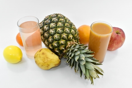 beverage, cocktails, pear, pineapple, syrup, food, produce, fruit, juice, health