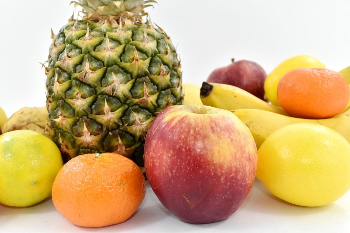 apple, produce, citrus, food, vitamin, pineapple, orange, fruit, health, juice