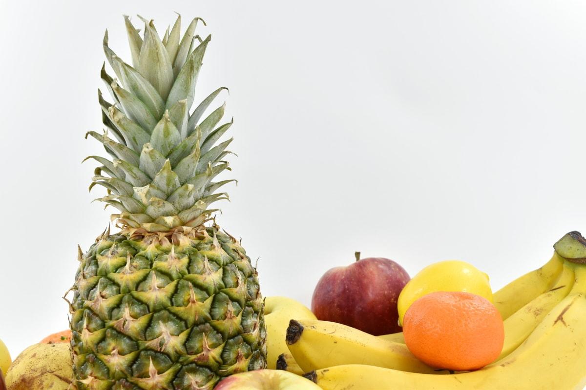 apple, banana, exotic, fruit, mandarin, oranges, pineapple, food, fresh, tropical
