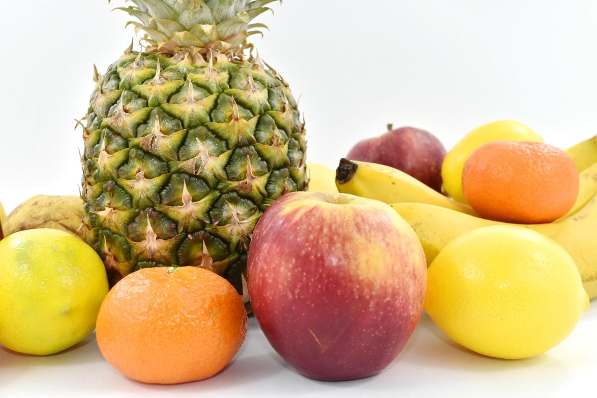 appels, voedsel, vrucht, citroen, Mandarijn, organische, peer, ananas, appel, produceren