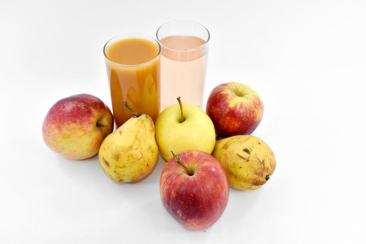 apples, beverage, fresh water, fruit juice, pears, syrup, fresh, apple, food, healthy