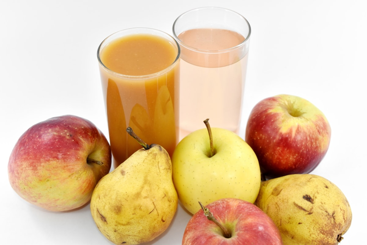 apples, cocktails, fruit cocktail, fruit juice, pears, syrup, fresh, juice, health, apple