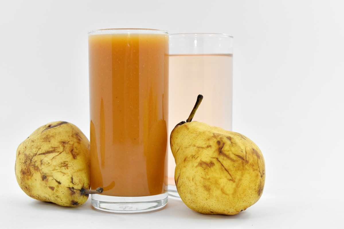 drinking water, fresh water, fruit juice, organic, pear, drink, food, juice, glass, health