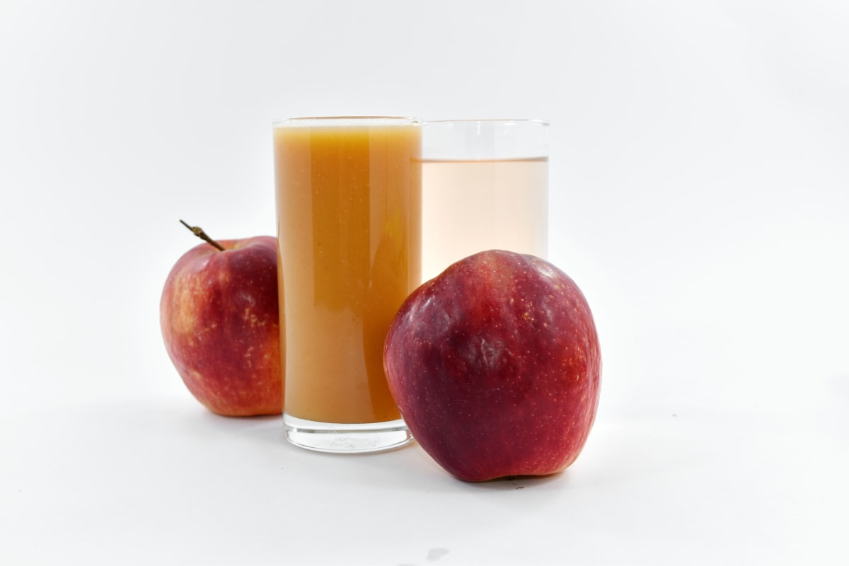 apples, fresh, fruit juice, glasses, liquid, syrup, diet, health, vitamin, sweet
