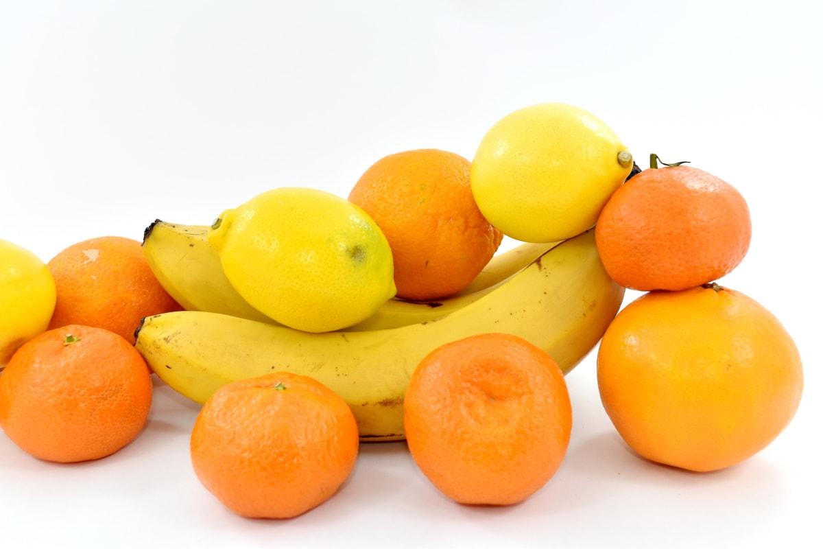 banana, fruit, oranges, tropical, mandarin, food, orange, tangerine, vitamin, citrus