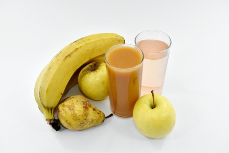 apples, banana, cocktails, drinking water, fruit cocktail, food, fruit, diet, citrus, fresh