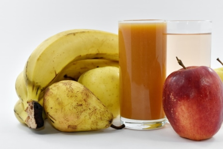 apples, exotic, fruit cocktail, fruit juice, diet, produce, fruit, banana, food, fresh