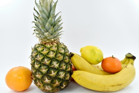 banana, citrus, pineapple, sweet, food, fresh, organic, fruit, tropical, health