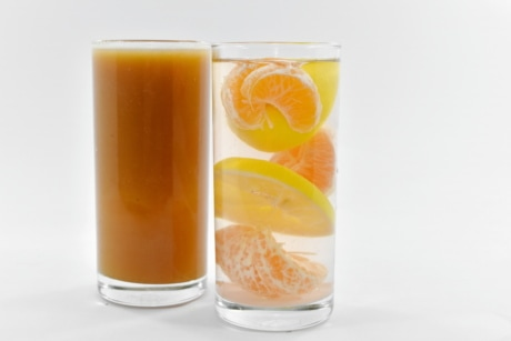 citrus, drinking water, fruit cocktail, fruit juice, lemon, lemonade, drink, orange, food, juice