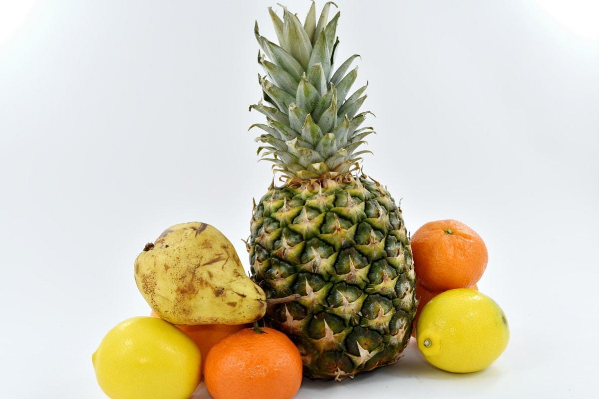 citrus, grapefruit, pear, food, pineapple, tropical, orange, fruit, produce, fresh