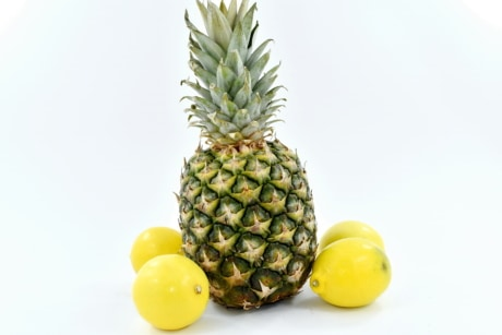 lemon, pineapple, yellow, produce, tropical, fruit, food, health, nature, juice