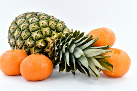 exotic, mandarin, orange peel, orange yellow, pineapple, vitamins, fresh, food, fruit, vitamin